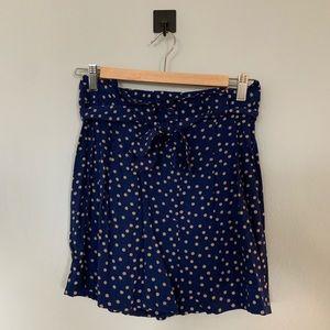 Xhilaration Blue Polka Dot Shorts